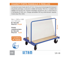 Chariot professionnel neuf
