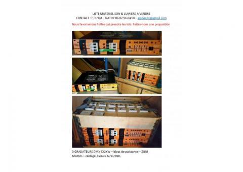 Jeu d'orgues-gradateurs-PC-PAR