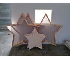 Décors /écrans de projection en forme d'Etoile