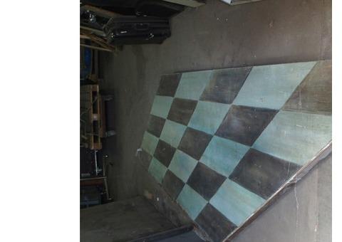 plateau roulant peint