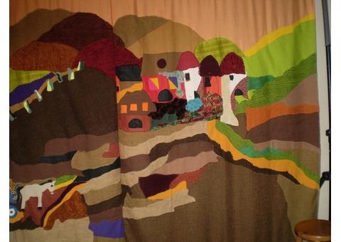 décors de théâtre en textiles