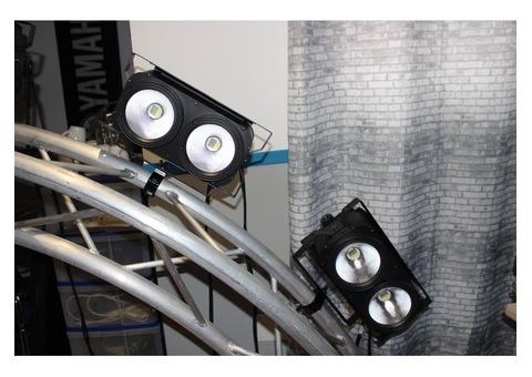blinder cob 2x100 watts rgbw
