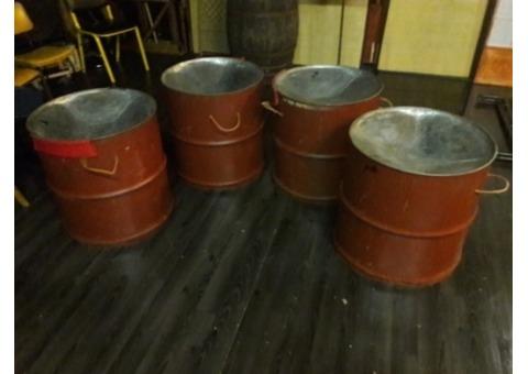 Vends lot de 4 steel drum tenor bass.