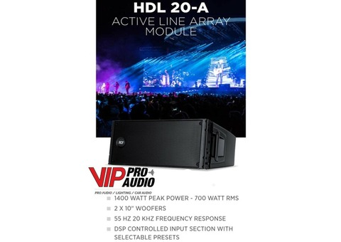 LINE ARRAY RCF HDL 20A (8) / 8006AS (4)