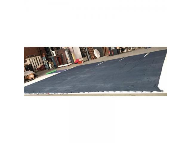 Toile de drap bleu