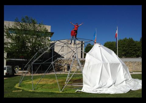 Chapiteau- Dome géodésique 110M2-