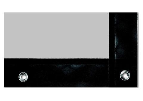 Toile de projection 5m x 2m Lumi Grey avec bordures noires et oeillets + tendeurs + cadre métallique