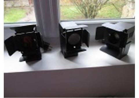 3 spots compacts BT avec portes filtres