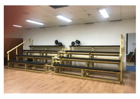 GRADINS EN BOIS - 48 assises