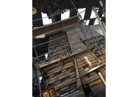 Deux temple maya 5/7m de haut bois peint