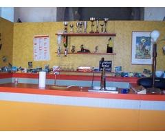 Décors divers/chassis en cp/ tubes acier/collier/Lampes acier