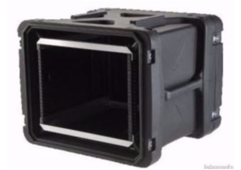 SKB 8U Roto Shockmount Rack Case 20 482x355x508 + plateau roulette