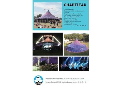 Chapiteau Rond 25m